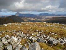 Arkle e Foinaven, montanhas noroestes, Scotland Imagens de Stock Royalty Free
