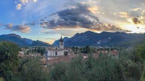 Arko, Włochy, zmierzch Obrazy Stock