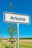Arkona road sign Royalty Free Stock Photography