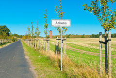 Arkona road sign Stock Photos