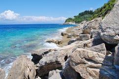 Arkoudaki coastline, Paxos Royalty Free Stock Photo