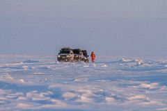 Arktische Expedition im tiksi Stockbild