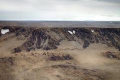 Arktische kalte Wüste Absolut leblose Hochebene Stockbild