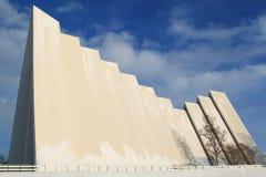 Arktische Kathedrale bei Tromso, Norwegen stockbild
