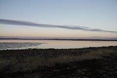 Arktische Landschaft bei Sonnenuntergang Lizenzfreie Stockfotografie