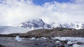 Arktische Landschaft, Svalbard Lizenzfreie Stockbilder