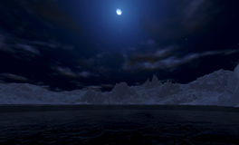 Arktische Nacht Stockbild