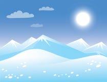 Arktische sonnige Landschaft des Frühlinges. Lizenzfreie Stockfotografie