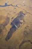Arktische Tundra von der Luft Lizenzfreie Stockbilder