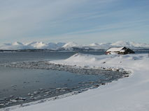 Arktisches Winter-Märchenland Stockfoto