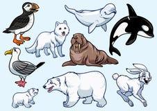 Arktisk djuruppsättning vektor illustrationer