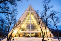Arktisk domkyrka Norge arkivfoton