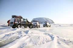 arktisk expedition Fotografering för Bildbyråer