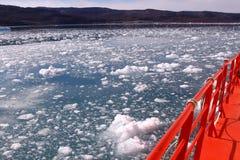 Arktisk Grönland för drivais Royaltyfria Bilder