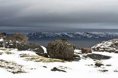 Arktisk kust Arkivbilder