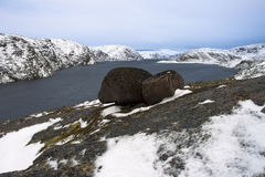 arktisk lake Royaltyfria Foton