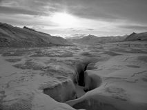 arktisk liggande Royaltyfri Bild