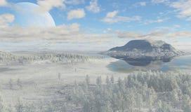 arktisk liggande Royaltyfri Foto
