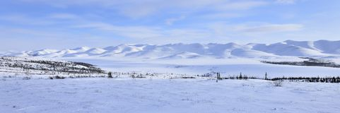 arktisk liggandepanorama Fotografering för Bildbyråer
