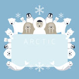 Arktisk ram, djur, folk Royaltyfri Illustrationer