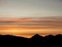 arktisk soluppgång Arkivfoton