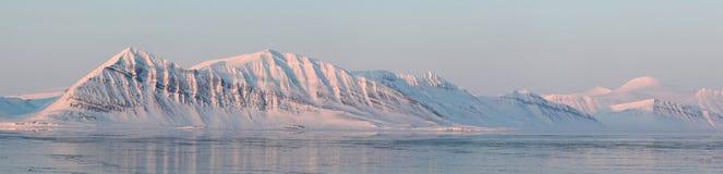 arktisk stor liggandepanorama Royaltyfri Bild