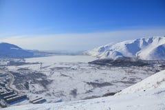 arktisk town Royaltyfri Fotografi