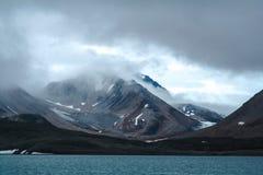 Arktisk vår i södra Spitsbergen Royaltyfria Foton