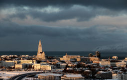 Arktisk vinter Sun 2 royaltyfri bild