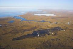 arktyczna tundrze lotnicza Zdjęcie Royalty Free