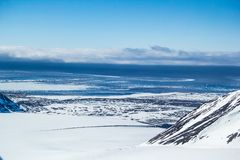Arktyczna wiosna w południowym Spitsbergen Fotografia Royalty Free