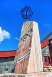 Arktycznego okręgu zabytek blisko gościa centre w Norwegia, 66º 3 Obraz Stock