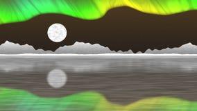Arktycznego słupa pętli bezszwowy wideo ilustracja wektor