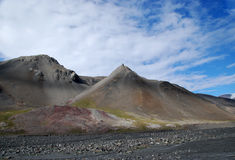 Arktyczni wzgórza Wzdłuż Lupus rzeki Fotografia Royalty Free