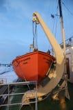 Arktyczny Icebreaker Sampo podczas unikalnego rejsu w zamarzniętym morzu bałtyckim Obrazy Royalty Free