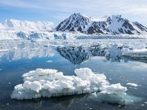Arktyczny lodowa krajobraz - Spitsbergen Obraz Royalty Free