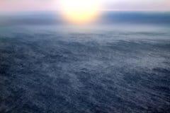 Arktyczny ocean od wzrosta ptasi lot Fotografia Royalty Free