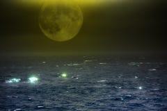 Arktyczny ocean od wzrosta ptasi lot Zdjęcia Royalty Free