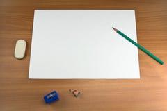 arkusz white Fotografia Stock