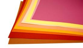 arkusze kolorowych Zdjęcie Royalty Free