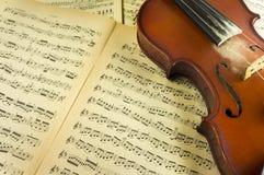 arkusze muzyczny skrzypce Obraz Royalty Free