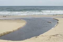 Arkutino海滩,普里莫尔斯科 库存图片