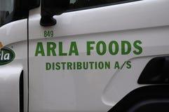 ARLA食物送货卡车 免版税库存图片