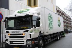 ARLA食物送货卡车 免版税库存照片