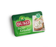 Arla Buko cream the cheese with the taste of Basil and lemon Royalty Free Stock Photo