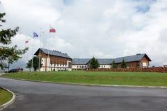 Arlamow, Polonia - 18 de julio de 2016: reconstrucción compleja Arlamo del hotel Fotos de archivo libres de regalías