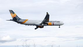 Thomas Cook, Airbus A320 Jet aircraft / plane. royalty free stock photo