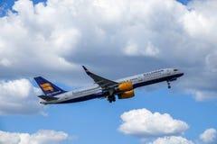 Icelandair, Boeing 757 - 200 take off royalty free stock photography