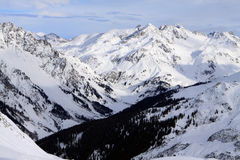 Arlberg. Skiing Region Arlberg. Vorarlberg. Austria Stock Images