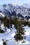 Arlberg. Skiing Region Arlberg. Vorarlberg. Austria Royalty Free Stock Photo